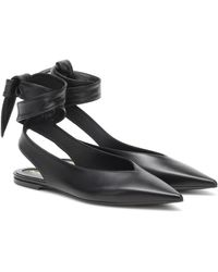 Burberry Slingback-Ballerinas Howe aus Leder - Schwarz