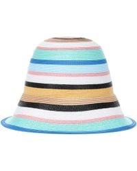 Emilio Pucci Striped Hat - Blue