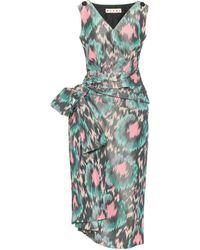 Marni Printed Cotton-blend Midi Dress - Green