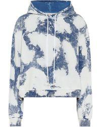Stella McCartney Sudadera de algodón print tie-dye - Azul