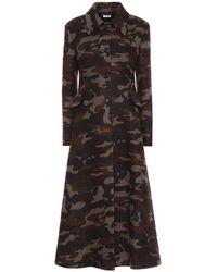 Miu Miu - Cappotto a stampa camouflage in lana - Lyst