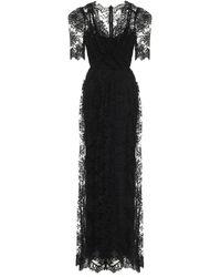 Dolce & Gabbana Vestido de fiesta de encaje y seda - Negro