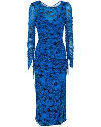 Diane von Furstenberg Corinne Floral Jersey Midi Dress - Blue