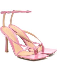 Bottega Veneta Sandalen Stretch aus Leder - Pink