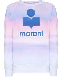 Étoile Isabel Marant Sweat-shirt Milly imprimé en coton mélangé - Violet