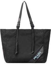 220051833c Lyst - Prada Parabole Spazzolato Tote Bag in Black