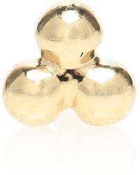 Maria Tash Einzelner Ohrring Three Ball Trinity aus 14kt Gelbgold - Mettallic