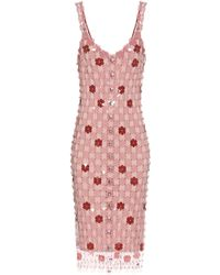 Paco Rabanne Exclusive To Mytheresa – Floral Paillette-embellished Dress - Pink