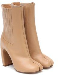 Maison Margiela Ankle Boots Tabi aus Leder - Natur