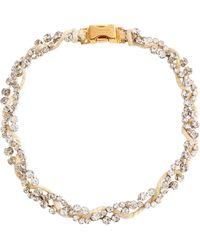 Marni Kristallverzierte Halskette - Natur