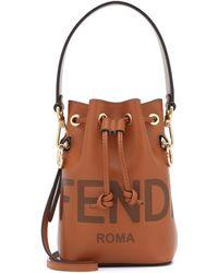 Fendi Mon Trésor Mini Leather Bucket Bag - Multicolour