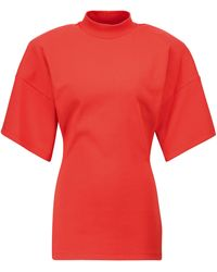 The Attico T-Shirt aus Baumwoll-Jersey - Rot