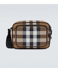 Burberry Karierte Messenger Bag Paddy - Braun