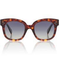Celine Gafas de sol cat-eye oversized - Marrón