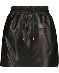 Tom Ford Mini-jupe en cuir - Noir