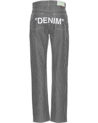Off-White c/o Virgil Abloh - Printed Striped Jeans - Lyst