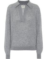 Khaite Jo Stretch-cashmere Sweater - Gray