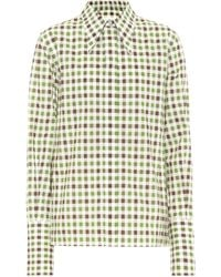 Victoria Beckham Pointed Collar Shirt - Multicolour