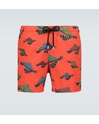 Vilebrequin Costume da bagno Moorise Geo Turtle - Arancione