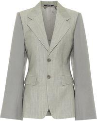 Maison Margiela Single-breasted Blazer - Grey
