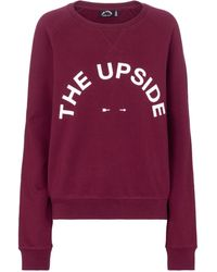 The Upside Sweat-shirt Bondi en coton à logo - Rouge