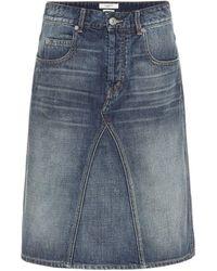 Étoile Isabel Marant High-rise Denim Skirt - Blue