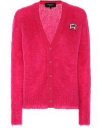 Rochas Cardigan aus einem Mohairgemisch - Pink
