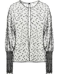 Philosophy Di Lorenzo Serafini - Embroidered Tulle Top - Lyst