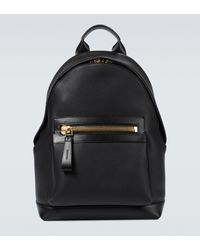Tom Ford Buckley Leather Backpack - Black