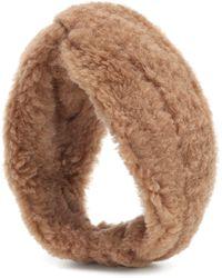 Max Mara Ovidio Camel Wool And Silk Headband - Brown