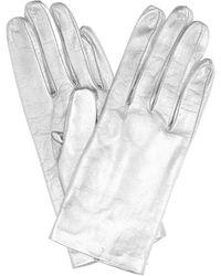 Dries Van Noten Metallic Leather Gloves