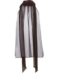 Saint Laurent Sheer Silk Blouse - Multicolor