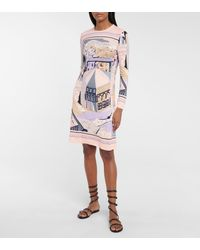 Emilio Pucci Battistero Printed Midi Dress - Multicolor