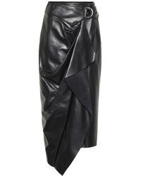 Isabel Marant Fiova Leather Wrap Skirt - Black