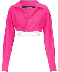 Jacquemus Exclusivo en Mytheresa - camisa corta La Chemise Laurier - Rosa
