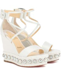 Christian Louboutin Exclusive To Mytheresa – Chocazeppa 120 Wedge Sandals - Multicolour