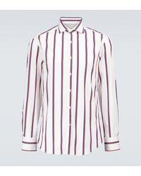 Brunello Cucinelli Camicia in cotone a righe - Multicolore