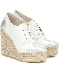 Gucci Espadrille-Wedges Pilar aus Leder - Weiß