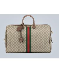 Gucci Ophidia GG Large Duffel Bag - Natural