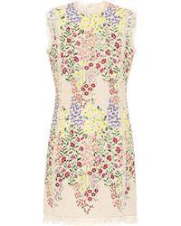 Giambattista Valli Floral Bouclé Minidress - Natural