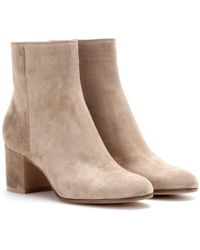 Gianvito Rossi - Ankle Boots Margaux aus Veloursleder - Lyst