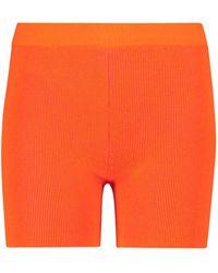 Jacquemus Exclusivo en Mytheresa - shorts de ciclista Le Arancia - Naranja