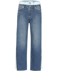Maison Margiela Layered High-rise Cropped Jeans - Blue
