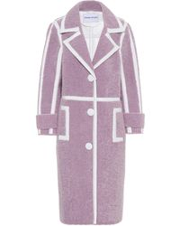 Stand Studio Kenzie Faux-shearling Coat - Purple