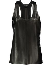 Tom Ford Leather Tank Top - Black