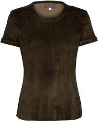 Stouls S.05 T-Shirt aus Veloursleder - Mehrfarbig