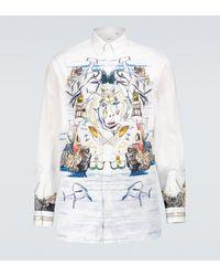 Burberry Bedrucktes Hemd aus Baumwolle - Weiß