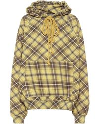 Dries Van Noten Checked Cotton Hoodie - Multicolour