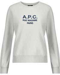 A.P.C. Sweat-shirt Tina en coton mélangé - Gris