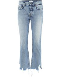 GRLFRND High-Rise Bootcut Jeans Tatum - Blau
